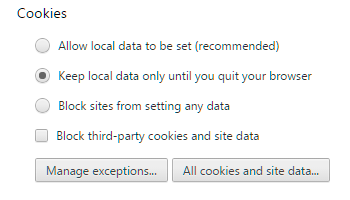 Chrome Cookies Help