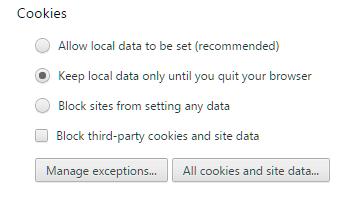 Chrome Cookies Help