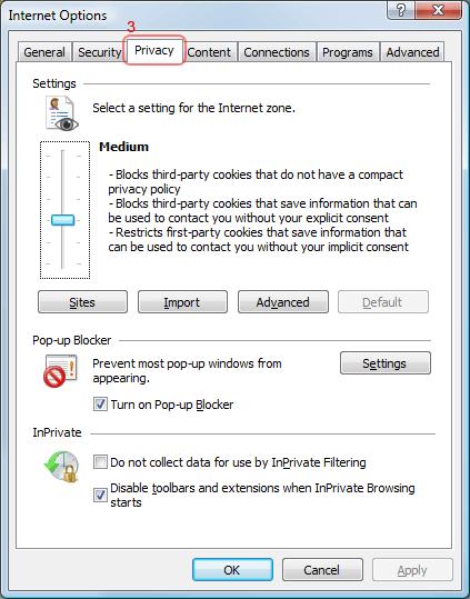 Internet Explorer Cookies Help